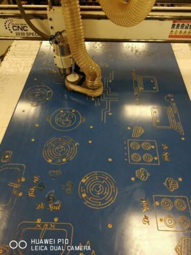 Grawer ifrezowanie płyt HDPE naplace zabaw