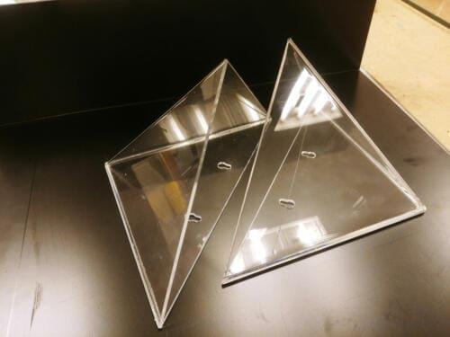 Klejenie trójkątów zplexi